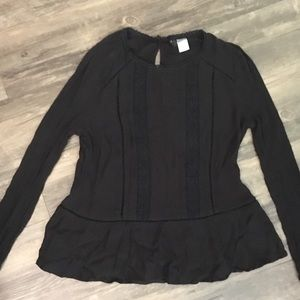 H&M black, partially laced sweater